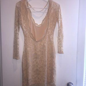 Dresses - Cream lace dress- size M